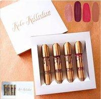 Nouveau maquillage kylie Jenner rouge à lèvres lèvre kit brillant KOKO KOLLECTION cosmétiques or anniversaire mat liquide maquillage rouge à lèvres 4pcs / set