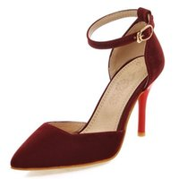 Velvet materail office lady working pumps with stiletto heel...