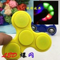 Luzes LED Fidget Spinner Spinner mão luminosa ABS HandSpinner Fingertips dedos espiral Gyro 2 cores OOA1389