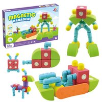 Magnetic Building Blocks Kids Magnet Construction Toy Rainbo...