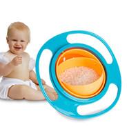 Creative Gyro Baby Feeding Toy Bowl Plats Non Spill Universal 360 Tourner la technologie Funny Gif Spill-Proof Gyro Alimentation Bowl