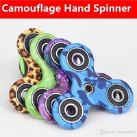 4 Colors Printed Camouflage Hand Spinner Tri Fidget Spinner ...