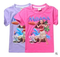 Kids T- shirts Moana Trolls Girls 16 Styles Girls CottonTees ...