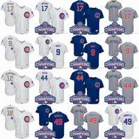 Chicago Cubs jerseys White grey royal blue 17 Bryant 9 baez ...