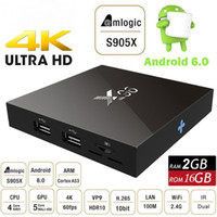 2GB 16GB X96 Android 6.0 TV Caixa Amlogic S905X Quad Core Marshmallow Mini Smart PC 1G 8G H.265 WIFI 4K * 2K UHD HDMI USB Bluetooth Media Player