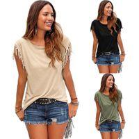 New Arrival Short T Shirt Crew Neck Cotton Blend Hot Sale Fa...