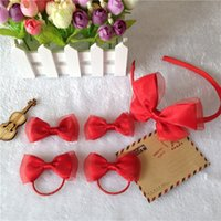 Fashion New Korean Hairpins Girls Baby Bow Set Hair Clip Red...