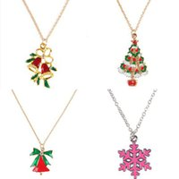 Christmas Theme Pendant Necklaces for Women Fashion Snowman ...