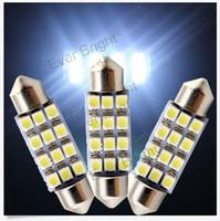 100PCS 12SMD 42mm 3528 Car Dome Ultra bright LED Bulb Light ...