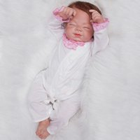 "Baby Toys Gifts Reborn Silicone Doll 22"" Realistic Hand..."