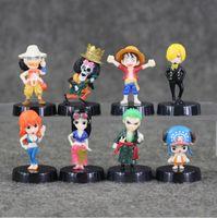 3- 4. 5 cm 8 Styles One Piece Q Version PVC Action Figure Coll...