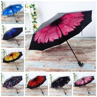 Windproof Anti UV Umbrella Women Sun Rain Umbrella Outdoor T...