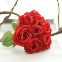 Rose artificial flower wedding flowers silk artificial bouqu...
