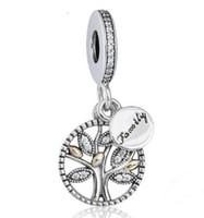 925 Sterling Silver Famille Lucky Wish Tree Charme Love Bead Fit pour Pandora charme européen Bracelet