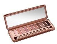 Hot Naked 12color Maquillage professionnel Naked Eyeshadow Palettes Smoky Ombre à paupières avec Make Up Brush Case Cosmétique