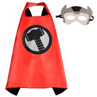Glod Руки Новый 70 * 70 CM Superhero мысы с масками - Дети 'Робин Человек-паук Робин Капитан Америка для Kid' партии Cosplay платье вверх