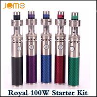 Аутентичные Jomotech Röya 100W испаритель комплекты углеродного волокна пера 3000 суб батареи 3мл Ом бак пара пера Ecig Vape комплекты мАч через DHL