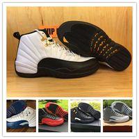 Mens Retro XII 12s Basketball Shoes Women 12s Flu Game Frenc...