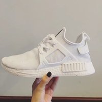 with Box NMD XR1 Primeknit all White Men Sneakers Sports Run...