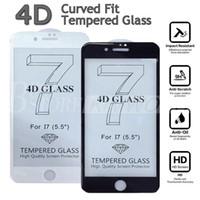 Nouvelle Arrivée 0,2MM 4D Full Cover Protecteur d'écran pour iPhone 7 6 6S Plus Haute qualité 3D courbé verre trempé avec Retail Box