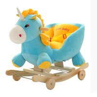 Newly Kids Rocking Horse Cartoon Musical Children Ride- On To...