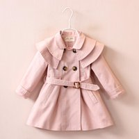 Baby Girls Tench Coat Button Cardigan Floral 2016 New Autumn...