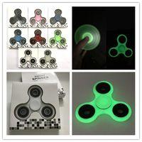 Оптовая EDC Fidget Tri рука Spinner Пластиковые Handspinner стали принимая Finger гироскопа игрушки неподдельный для аутизма ADHD Antistress 8 цветов