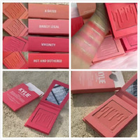 24pcs Maquillage Kylie mat pression pressée blush 5 couleurs x noté / à peine legar / virginité / chaud et ennuyé / désespérée romantique / Livraison gratuite