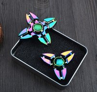 Colorful Rainbow Fidget Spinner Crab HandSpinner Hand Spinner Finger EDC Toy Pour Décompression Anxiété Metal En céramique Ball Bearing EDC Toy