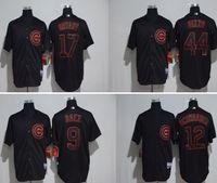 black colour chicago cubs jerseys 17 kris bryant 9 javier ba...