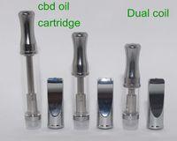 CE3 Bud Cartridge CBD Réservoir en verre Vaporisateur d'huile de chanvre WAX Atomizer 510 double réservoir de vapeur Mini réservoir pour O Pen Touch batterie