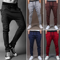 Men Casual Pants Cool Design Moletom Big Pocket Top Here Bra...