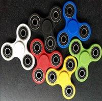 6 colores Fidget Spinner HandSpinner dedo Spinner 3D impresión EDC Juguete Spinner mano para la descompresión ansiedad juguetes CCA5524 1000pcs
