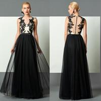 Plus Size Black Evening Dress 2017 Long A Line Jewel Covered...