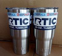 DHL RTIC Logo Tasses Coupes Tasse Rambler Tasses en acier inoxydable Sharp comme YT 30oz 20oz Cooler Tasses d'isolation en bicouche en stock