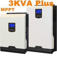 Круто ! Солнечные инверторы 3Kva 2400W Off инвертор сетки 24V до 220V 60A MPPT Инверторы Чистая синусоида Гибридный инвертор 60A AC зарядное устройство