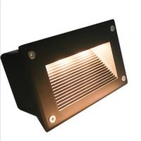 160 * 110mm утопленный водить напольные светильники 3W 5W лестничные освещение LED Шаг Свет Водонепроницаемые утопленный свет стены лампы 110-130lm / W SMD5730