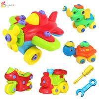 Оптово Новый DIY Удаление небольшой самолет или поезд пикап слон блоков собраны модели детских развивающие игрушки Плоскогубцы Отвертка