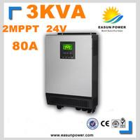 Горячее надувательство солнечного инвертора 3Kva 2400W с инвертора сетки 24V к инверторам 220V 80A двойному MPPT чистому инвертору 60A силы инвертора волны синуса