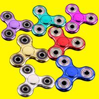 Métallique en couleur plaqué EDC Fidget Spinners Rotate Hand Spinner Jouets de décompression Jouet en doigt en or noir Jouet drôle OTH378