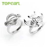 WG40 Teboer bijoux 10pcs gros anneaux souhaitent anneau de perles d'amour mélangé avec cage de boule et cage de poisson