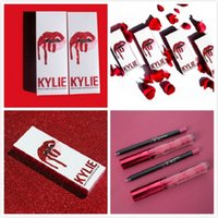 En stock KYLIE JENNER KIT KIT DE LENTES Kylie Lip VALENTINE / HEAD OVER HEELS Pintalabios Líquido Mate Maquillaje Lip Gloss Make Up 30 colores