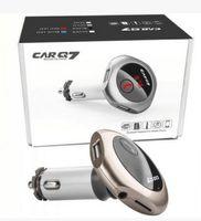 Nouveau kit voiture Q7 Bluetooth Lecteur MP3 mains libres Transmetteur FM Chargeur double voiture USB Modulateur FM Support U Disque / Carte SD A2DP