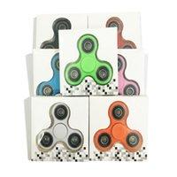 En stock Fidget Spinner EDC Hand Spinner HandSpinner Puntas de los dedos Espiral Dedos Acrílico Plástico Fidgets Gyro Juguetes