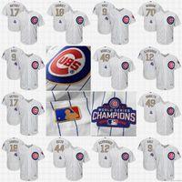 2017 Gold Program flex Cool Base Chicago Cubs jerseys #17 Kr...