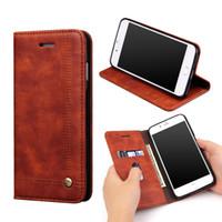 Pour iPhone 7 plus magnétique Slim Wallet Housse de téléphone en cuir pour iphone 6 Galaxy S7 EDGE Housse Avec Stand Card Holder
