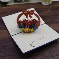 Birthday gift card pop up handmade 3D bouquet greeting card ...