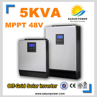 Горячее надувательство солнечного инвертора 5Kva 4000W с инвертора сетки 48V к 220V 80A MPPT Чисто инвертор синуса инвертора синуса гигабита 60A Заряжатель AC