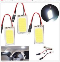 100PCS T10 COB 48SMD LED Bulb T10 BA9S Festoon Dome Car Inte...