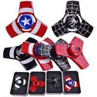 Captain America Iron Man Spinner à main En alliage de zinc Spinner Fidget Toy EDC Autisme ADHD Finger Gyro Toy Adult Gifts oth470